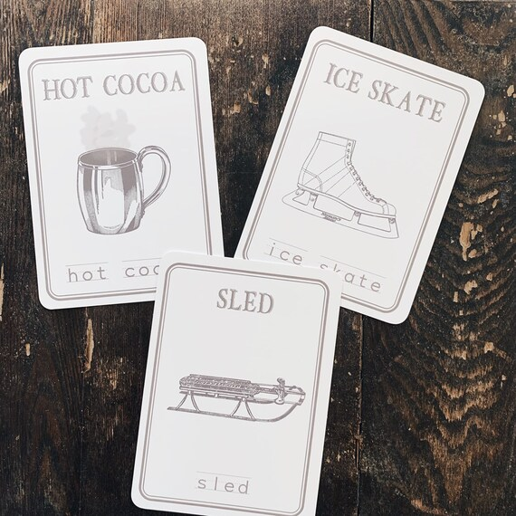 winter spelling flashcards