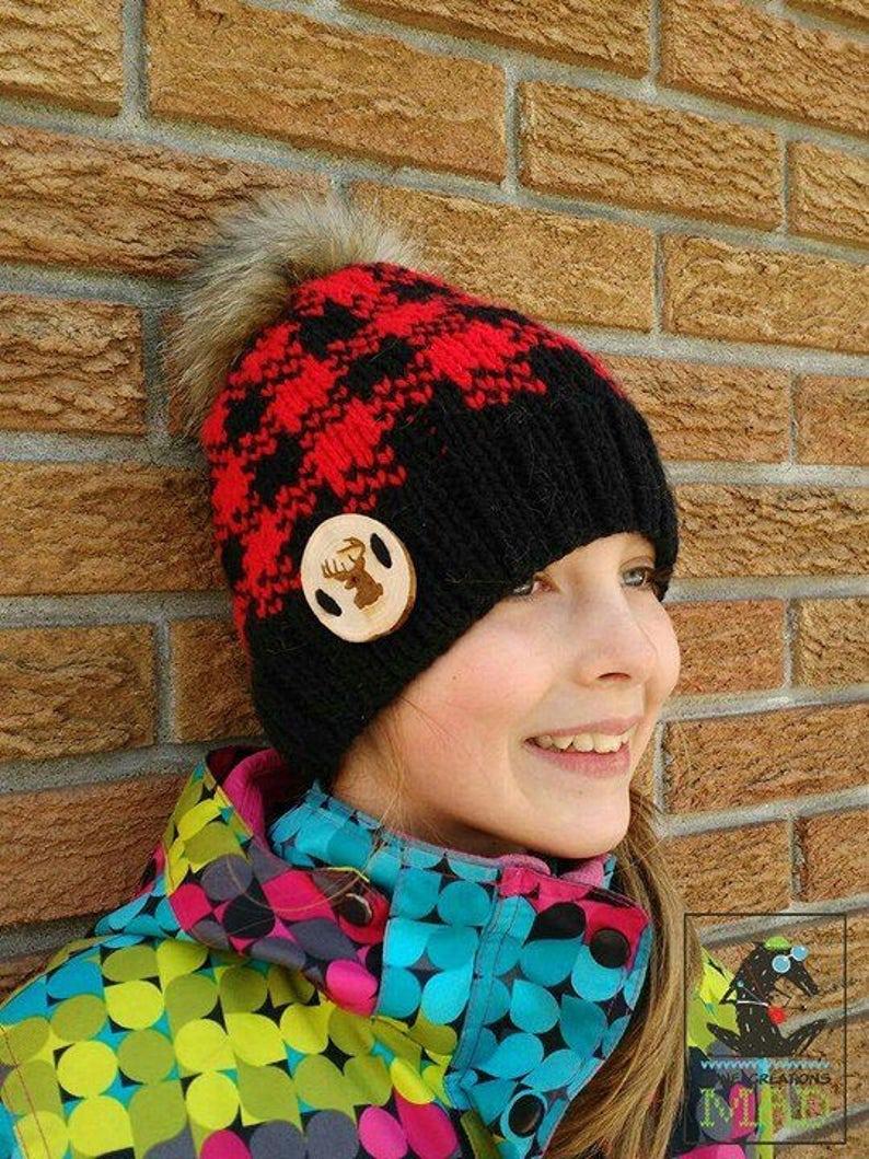 236d391c0d1 Jack Lumberjack hat pattern knitting pattern hat pattern