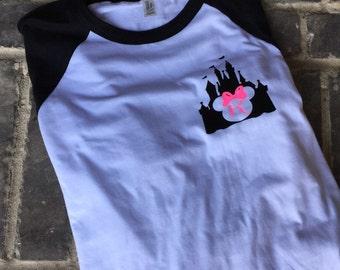 Free Shipping! Monogram Castle Raglan / Mouse Shirt/ vacation shirts