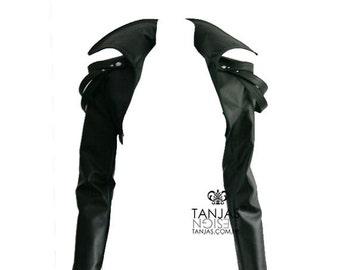 VANDA rockstar heavy metal bolero cropped leather jacket
