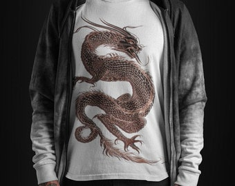 DRAGON'S BLOOD huge printed T-Shirt | Red Dragon Rising | Tai Chi Goth Tee from XS to 3XL