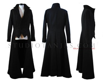 Long Winter La Coat | Ankle Length Longline Wool Gothic Dark Fashion Zexy duster coat | Countess style | made by measures
