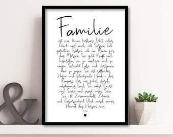 Family - a poem, family poster