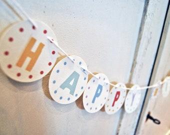 Paper garland HAPPY BIRTHDAY + Name 6,3 cm Dm UNAUFGEFÄDELT