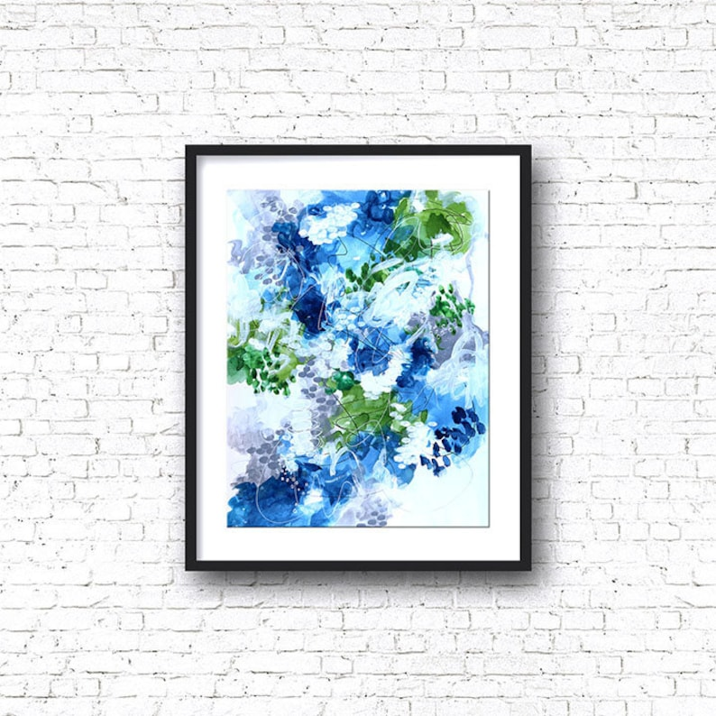 Abstract Art Titled Sea Shapes Original Painting image 0