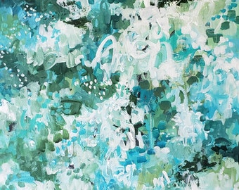 "MOMENTS OF JOY, Original Abstract Art, 20"" x 24"" Acrylic Painting on Gallery Canvas, Contemporary Art, Choose Joy"