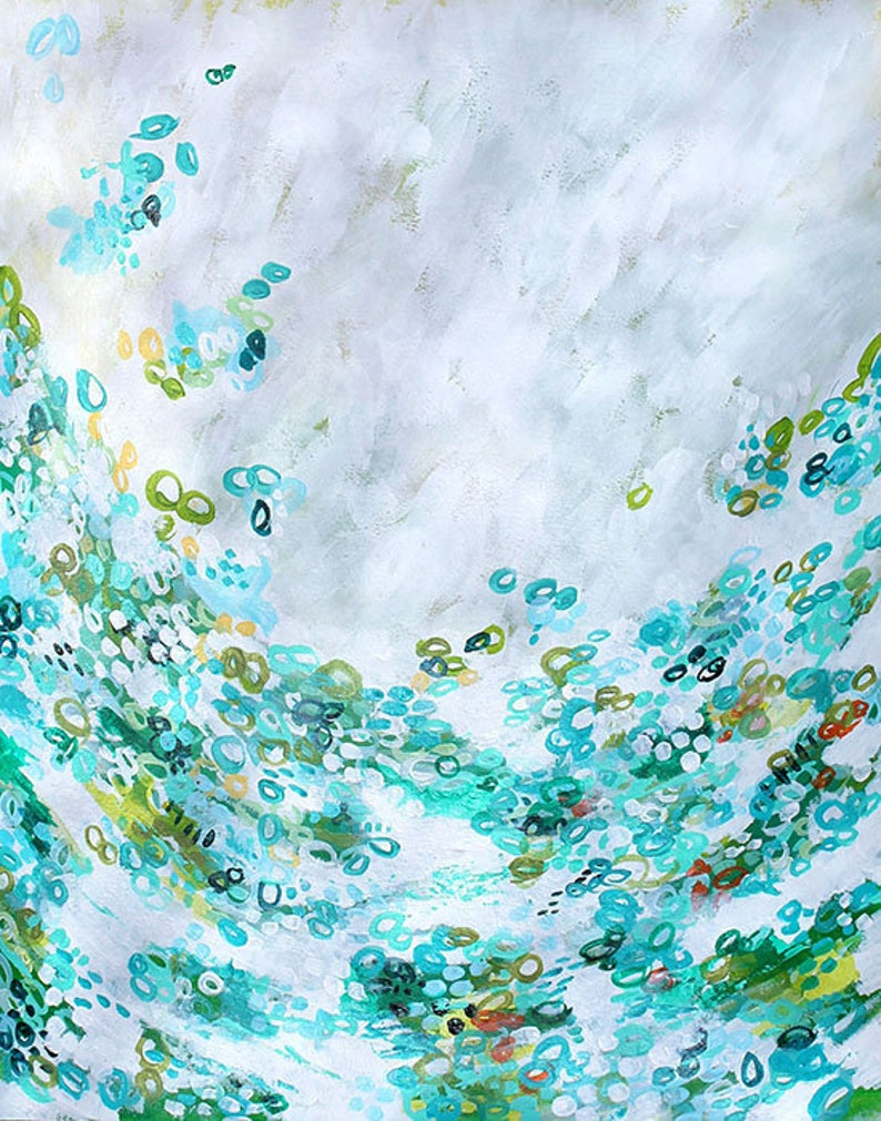 Abstract Art Titled Meet Me By The Sea Original image 0