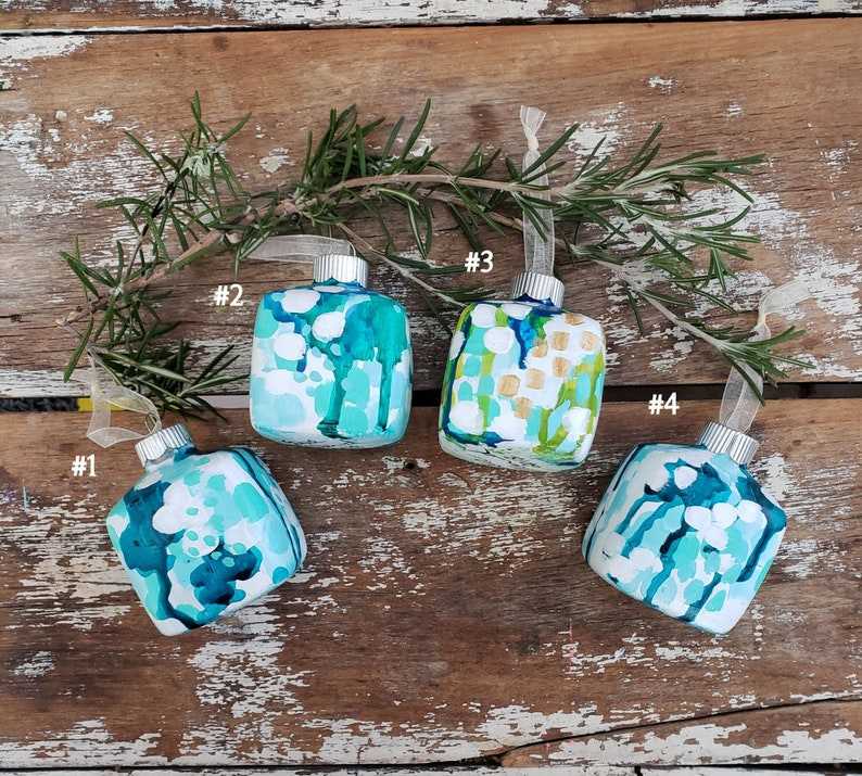 Handpainted Abstract Ornaments Limited Edition 2018 Signed & image 0