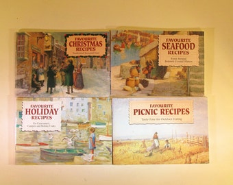 Set of 4 J Salmon Limited Recipe Cookbooks Booklets From Great Britian
