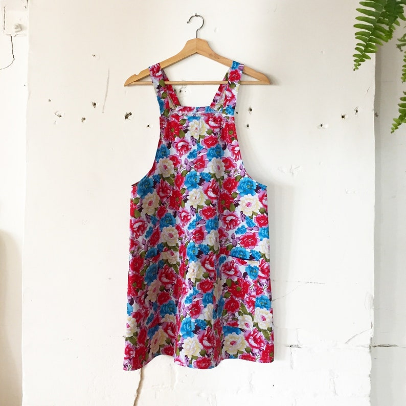 33ac6613795 June Jumper Dress floral cotton   overall dress   jumper