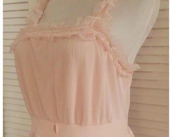 Mary Barron 1950 s Sweet Vintage Soft Pink Slip 15ea45e2d147