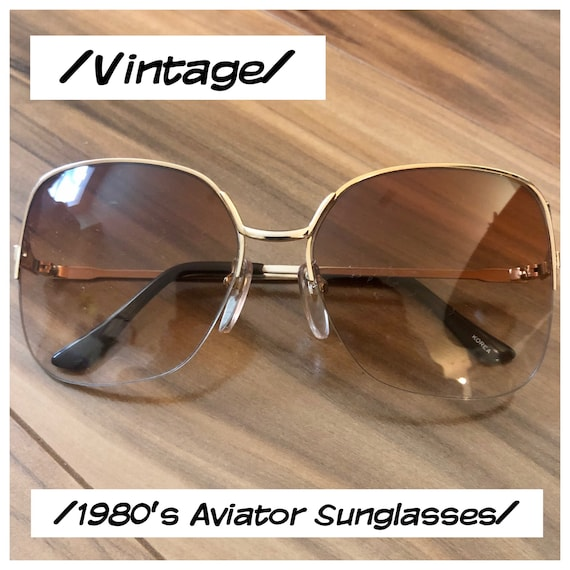 Vintage Aviator Sunglasses , Deadstock 1980s