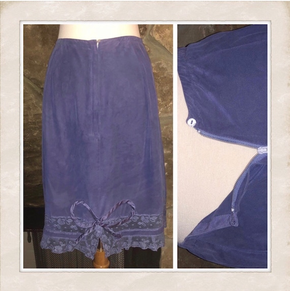 Gorgeous Hand Dyed Vintage Half Slip/ Slip Skirt,