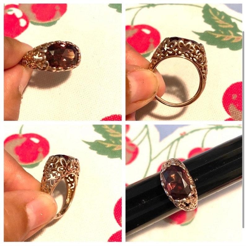 Size 10.5 Possible enstatite Stone Vintage 925 Silver Ring