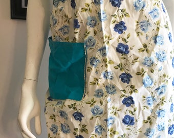 1960's Deadstock Floral Half Apron, Half Apron, Vintage Apron