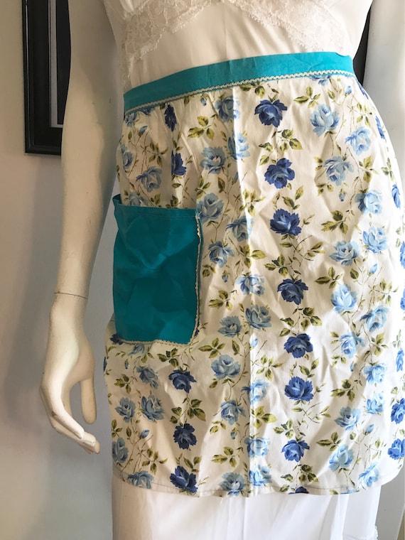 1960's Deadstock Floral Half Apron, Half Apron, Vi