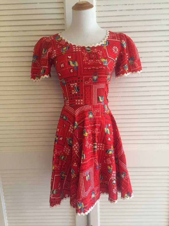 Amazing Summer Dress, Novelty Print Mini Dress, Co