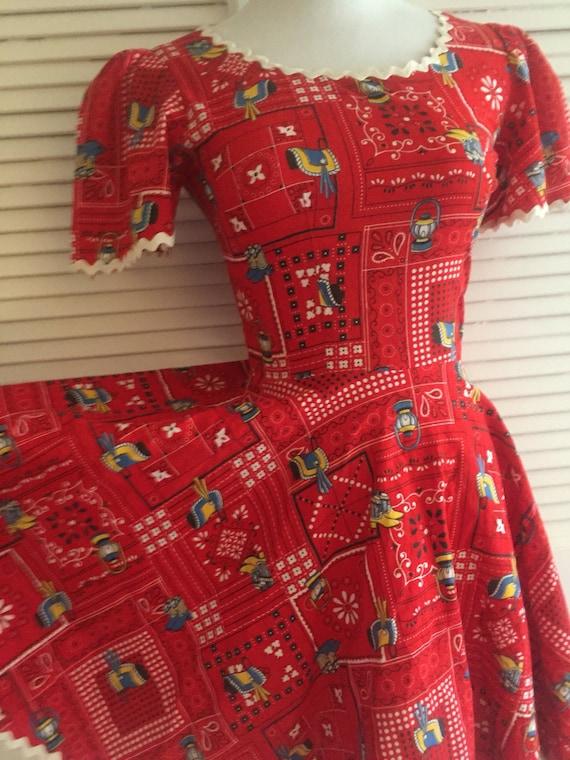 Amazing Summer Dress, Novelty Print Mini Dress, C… - image 2