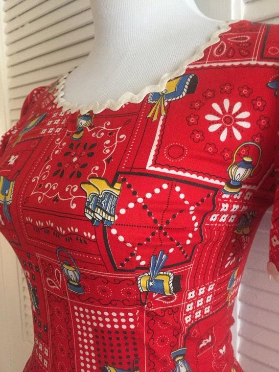 Amazing Summer Dress, Novelty Print Mini Dress, C… - image 4