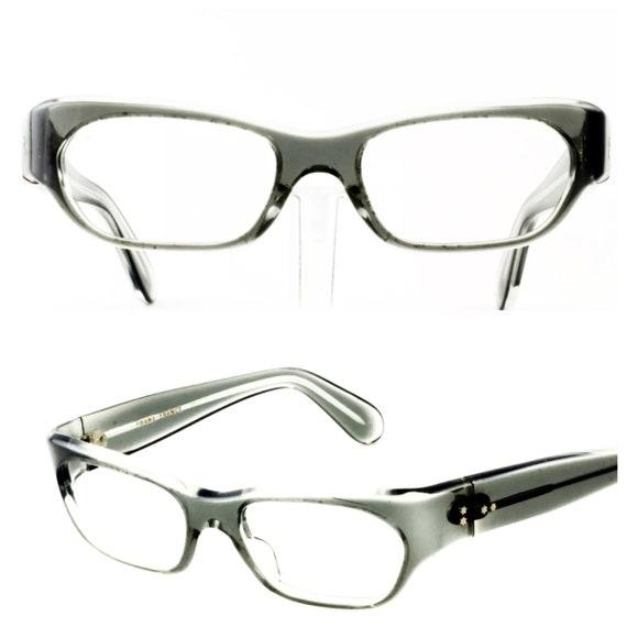 1960's Vintage Translucent Gray Eyeglasses, France