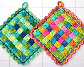 potholder crochet pattern, kitchen dekoration, DIY potholder, Crochet Tutorial Potholder