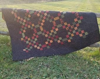 Thimbleberries Irish Chain Variation Checkerboard Quilt Handmade