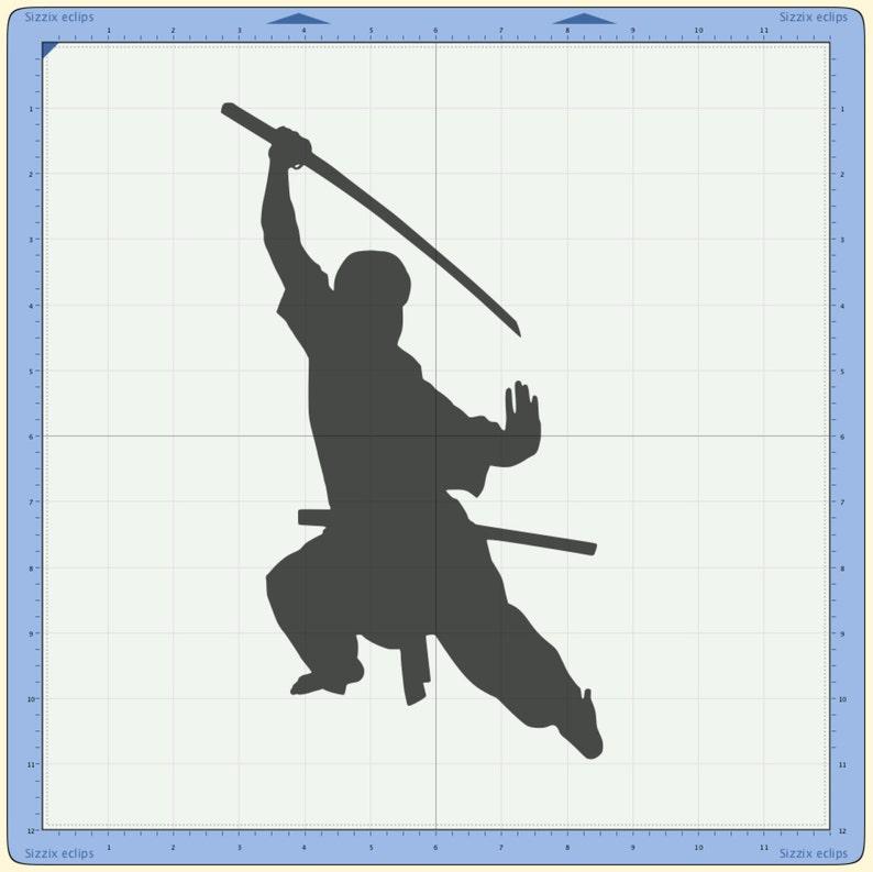 Sword Fighter / SVG / Cutting File / Stencil / Silhouette / Karate /  Taekwondo / Judo / Ju Jitsu / Aikido / Hapkido