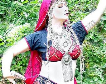Custom Banjara Bandhini Rajastani braless tribal choli by AngelDMort - your size, your colors.