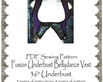 """AngelDMort 36"""" Fusion Belly Dance Underbust Turkish Vest .PDF Pattern Instant Download"""