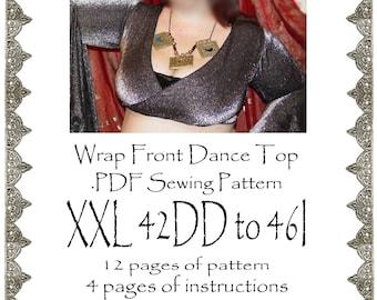 XXL AngelDMort Bellydance Tribal ATS Wrap Front Dance Shrug Top .PDF Pattern Instant Download & Instructions