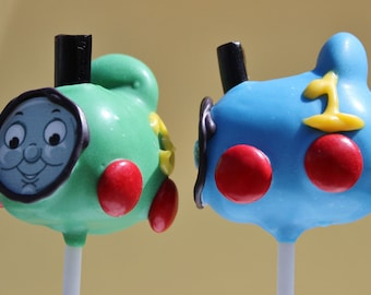 Thomas & Friends Engine Cake Pops