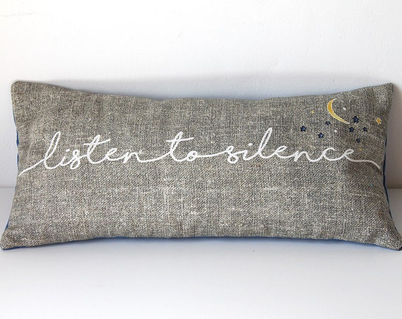 "Cushion for yoga and meditation ""Listen to silence"""