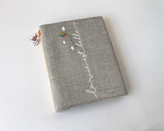 "Photo album natural linen ""life is beautiful"""