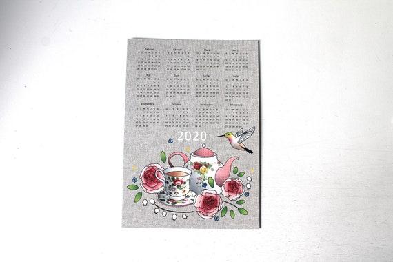 PROMO / Large postcard Colibri Calendar 2020