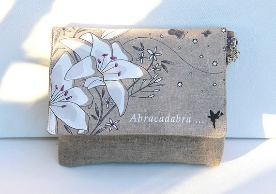 "Illustrated ""Abracadabra"" natural linen makeup"