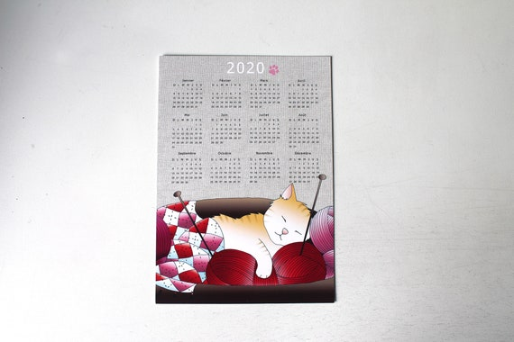 PROMO / Big postcard Chat Calendar 2020