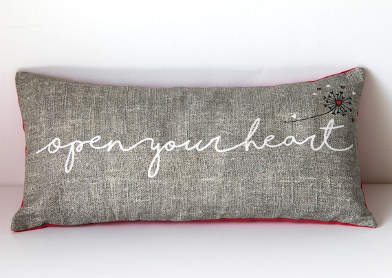 "Cushion for yoga and meditation ""Open your heart"""