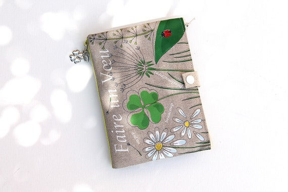 "Bag Organizer / multipoches in illustrious lin clover and Ladybug ""Make a wish"""