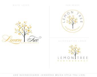 Lemon Tree 2 - luxury tree design logo - wedding photography boutique store - tree branding kit, photographer branding kit florist kit