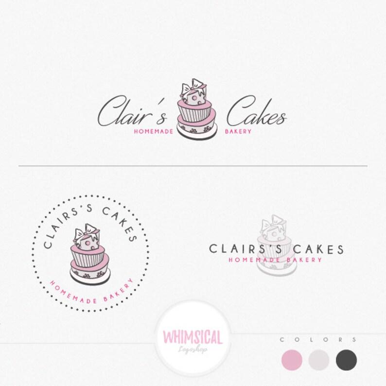 Bakery and cake 1 elegant emblem soft pastel look homemade image 0