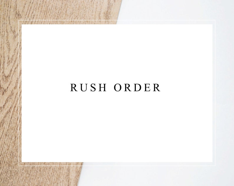 rush the order  contact us to check availability before image 0