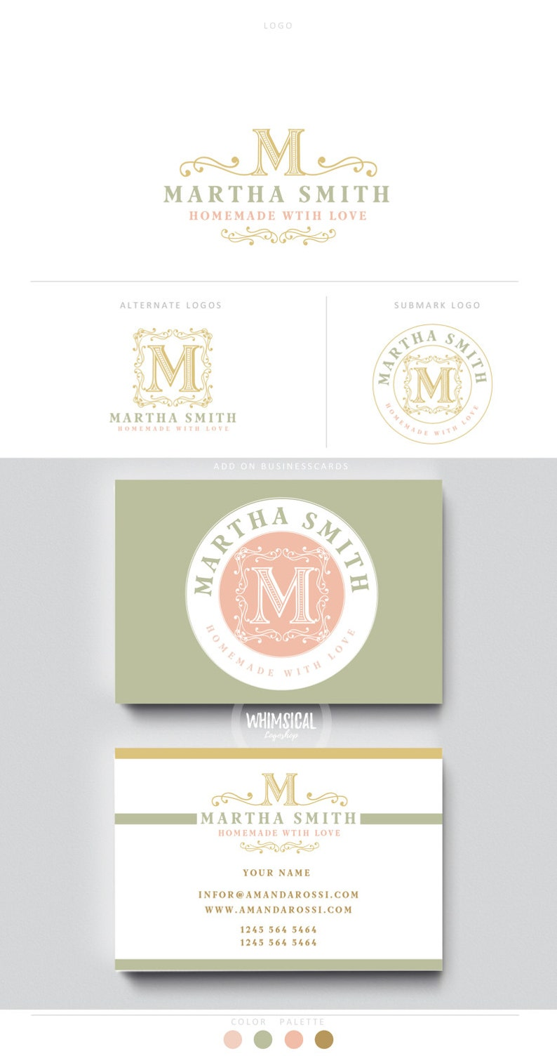 decorative monogram  logo 5 vintage photographer initials image 0