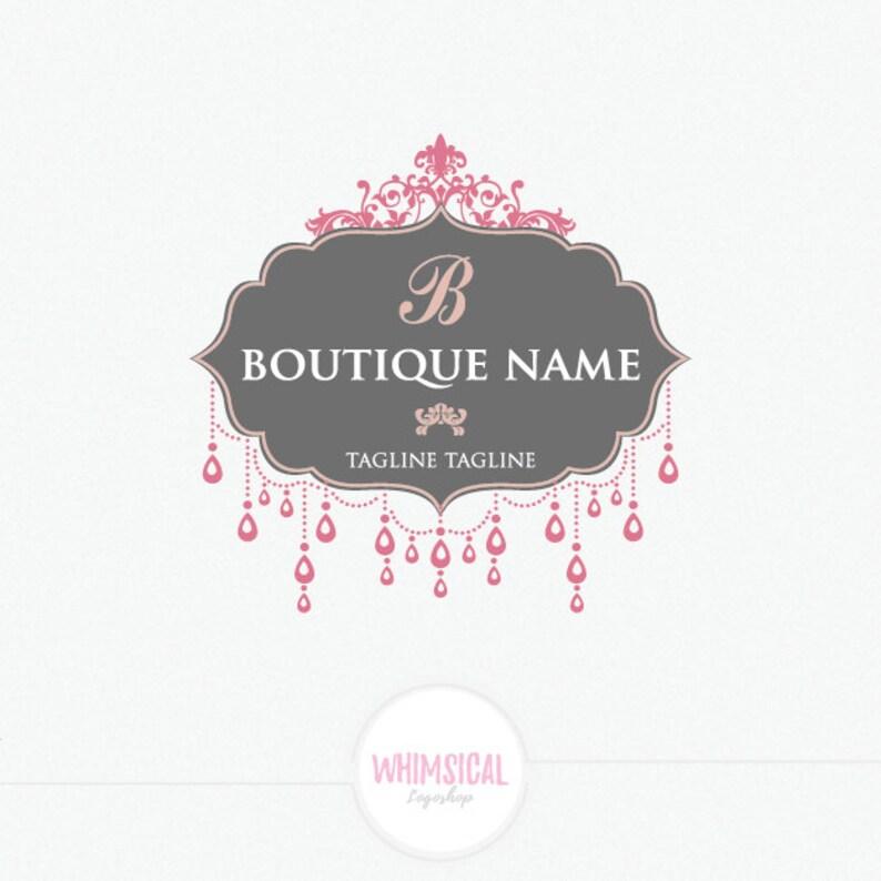 Boutique Logo 5  fashion store Sign  Luxury Elegant Sticker image 0