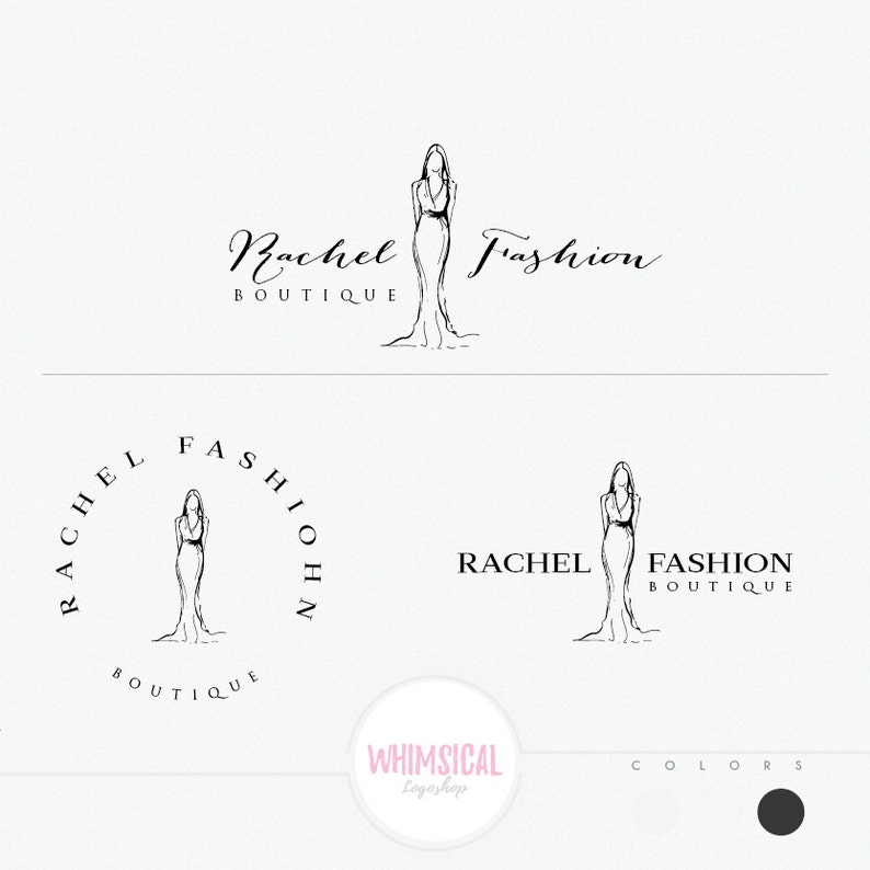 Fashion Logo  Hand Sketch Style Logo  Fashion illustration image 0