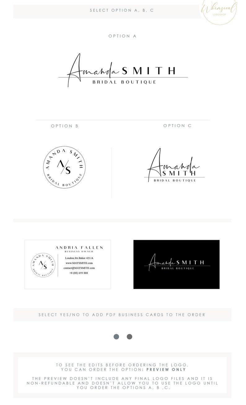 Watercolor Logo Design Branding Package Inc. Photography Logo image 0