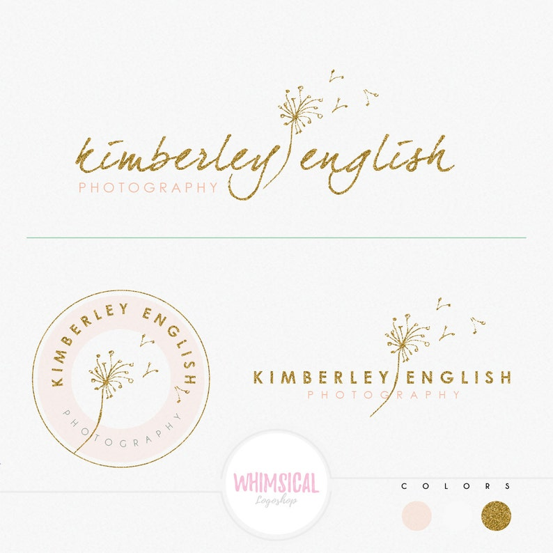 Sketchy Dandelion Premade Photography Logo and Watermark image 0