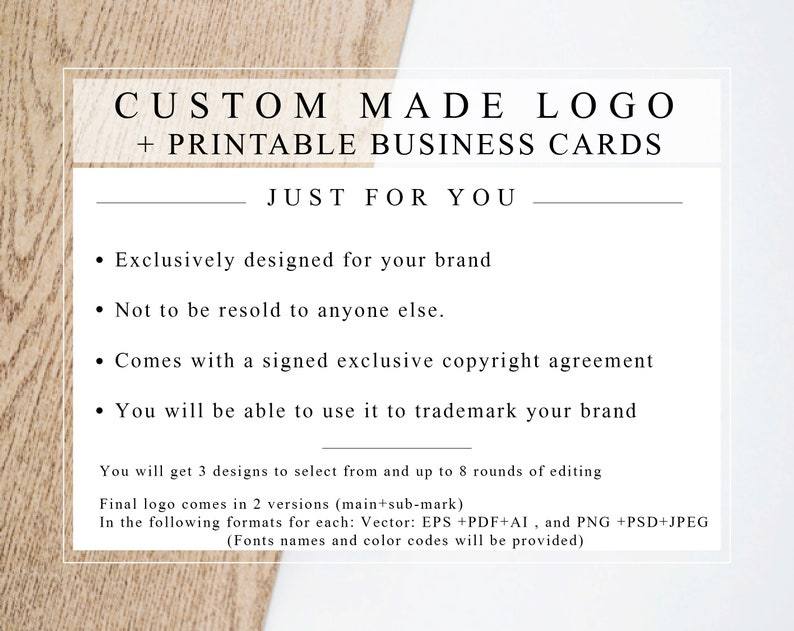 Custom Made Logo  Business-card design with EXCLUSIVE LICENCE image 0