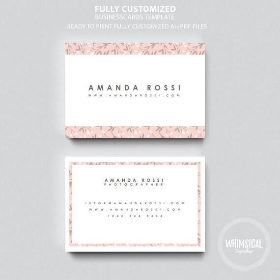 Nature Template Card Design Creative Business Card Template - Contact card template