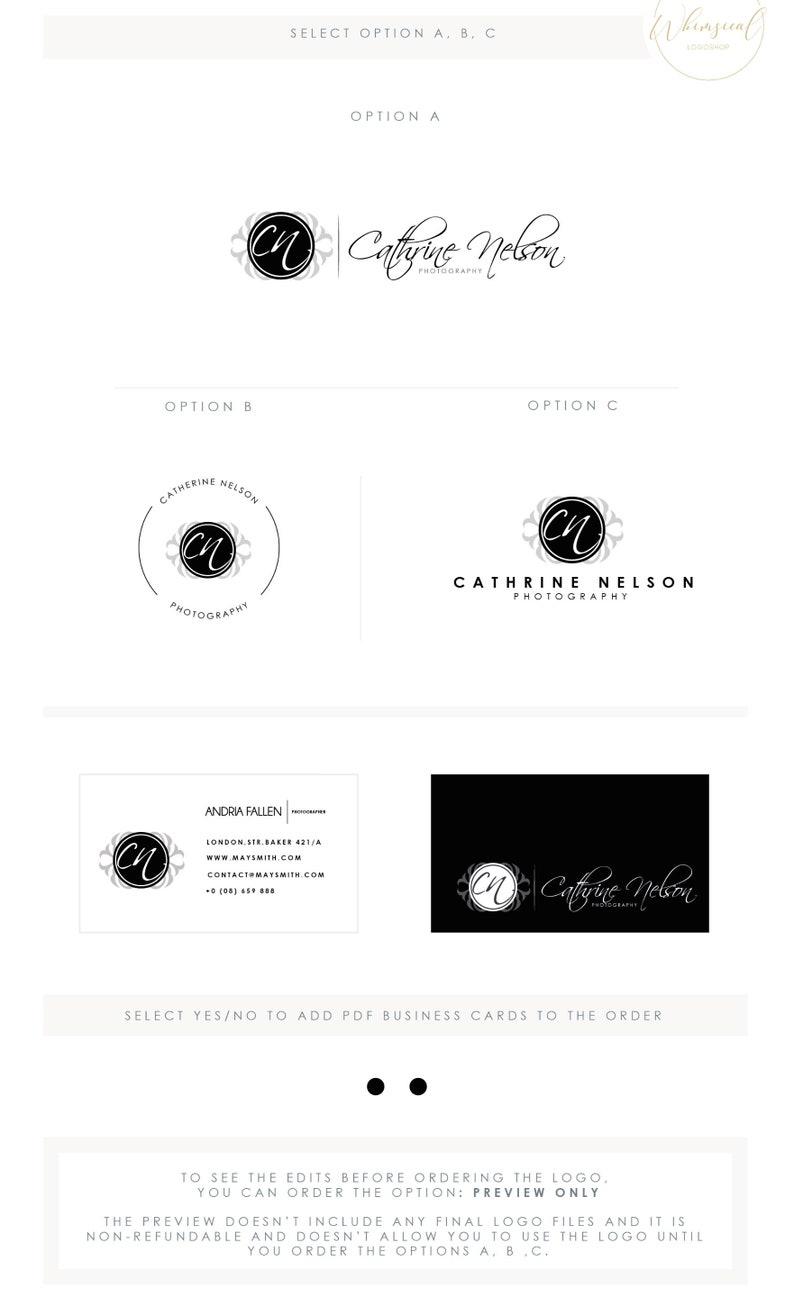 Photographer Logo 3  Feminine EBMLEM Branding Package Inc. image 0