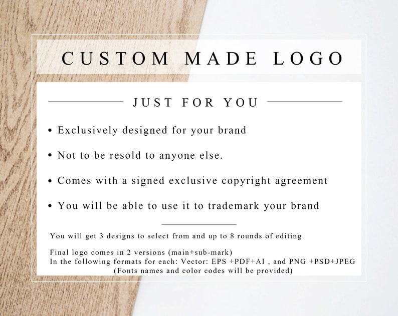 Custom Made Logo with EXCLUSIVE LICENCE AGREEMENT Designed image 0